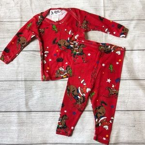 At Home Baby Boys 6-9 Months Christmas Pajamas